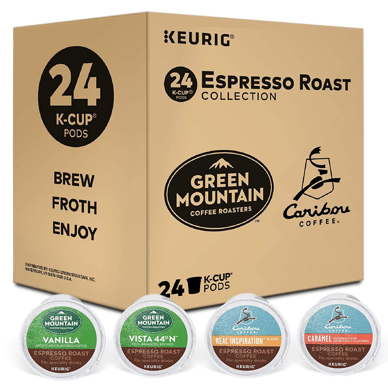 Keurig Espresso Roast Variety Sampler Pack, Single Serve Coffee K-Cup Pod x24, $9.49