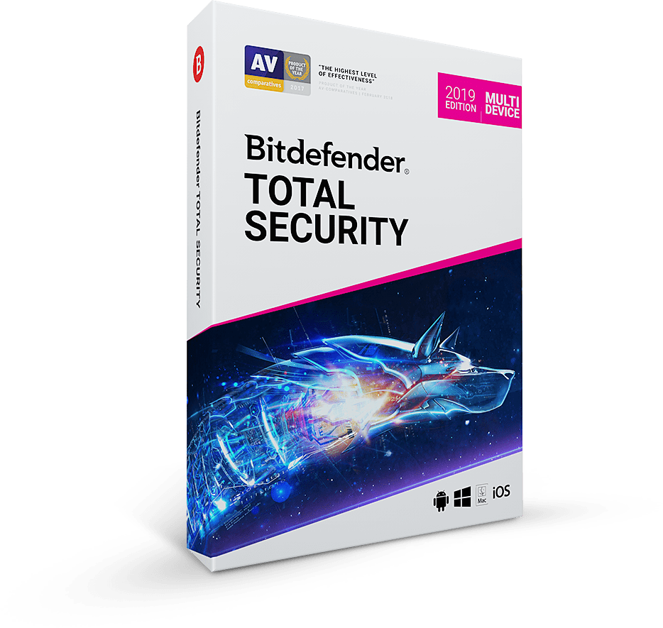 Bitdefender 2019, Antivirus 3-user, internet security 3-user, or total security 5- user $29.99 (fixed link)