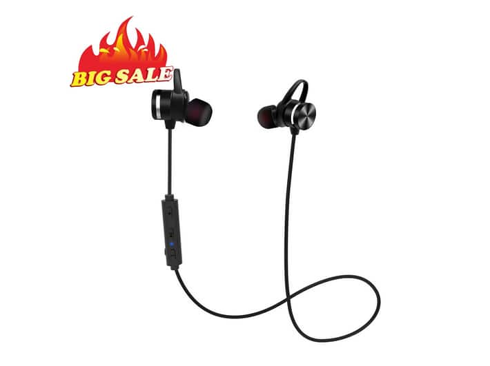 Bluetooth Earphones Stereo Wireless Magnetic IPX6 Sweatproof in-Ear Earbud Headphones, CVC 6.0 Noise Cancelling, APTX, 8H  $7.89@Amazon