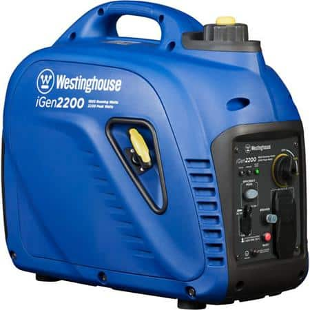 Westinghouse iGen2200 1,800/2,200-Watt Gas-Powered Inverter Generator $379 w/ FS