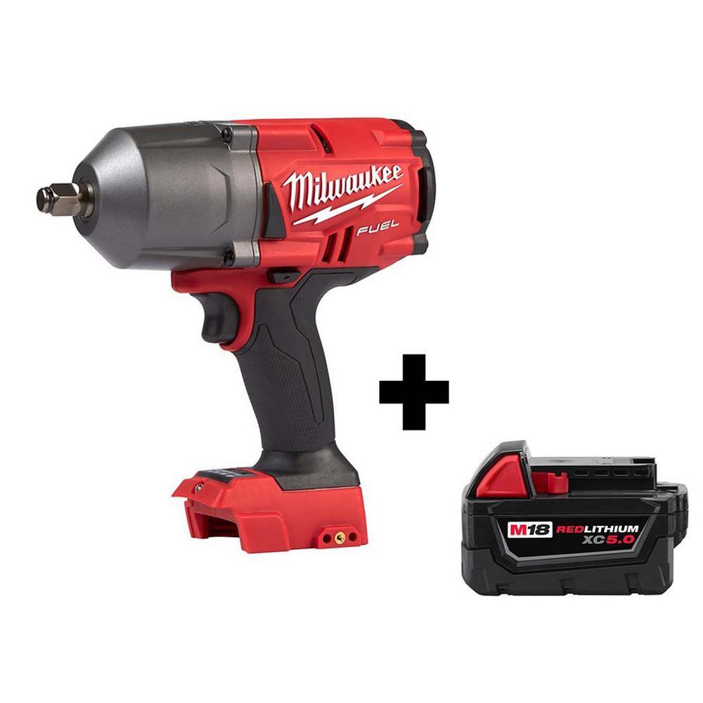 "Milwaukee M18 Fuel 18V Brushless Cordless 1/2"" Impact Wrench w/ Battery"