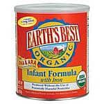 Earth's Best Organic Infant Formula with Iron, 23.2 Ounce $9.40 or less @ Jet.com