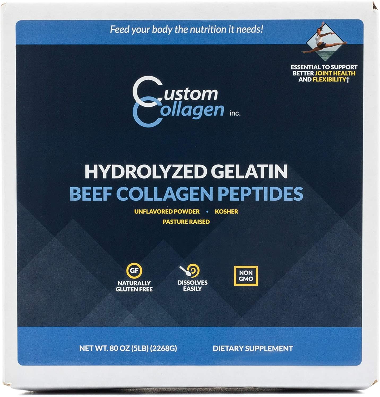 Collagen Peptides Powder 5lb (80oz) Box - $45 Amazon