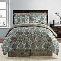 Kohls Deal: KOHLS 8 pc Bed set ( Reversible Comforter, Sheets, Bedskirt, Shams) ANY Size $22 Free store pickup