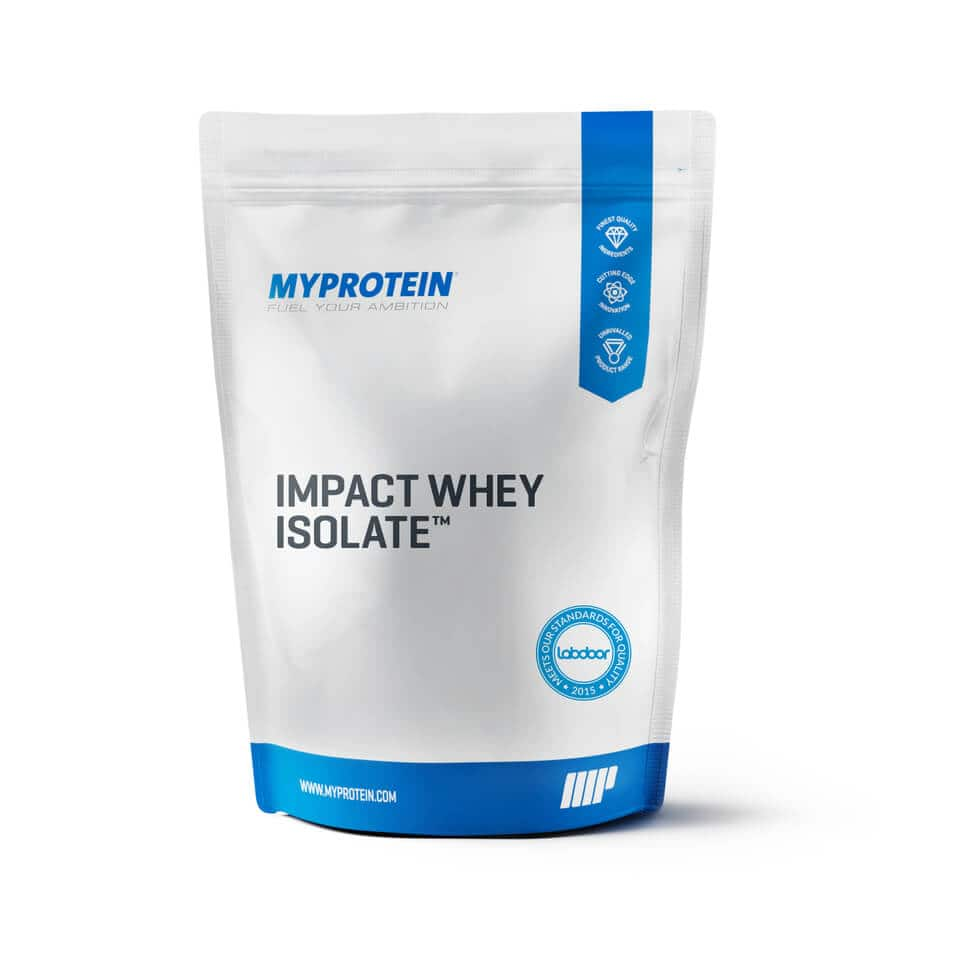 MYPROTEIN 11 lbs (2 x 5.5 lbs) Isolate $70 or 16.5 lbs (3 x 5.5 lbs) Isolate + .55 lbs Impact Whey Protein $105 + free shipping