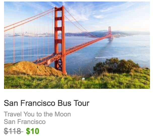 Scenic San Francisco Bus Tour for Two, Three, or Four from Travel You to the Moon (Up to 92% Off) $10