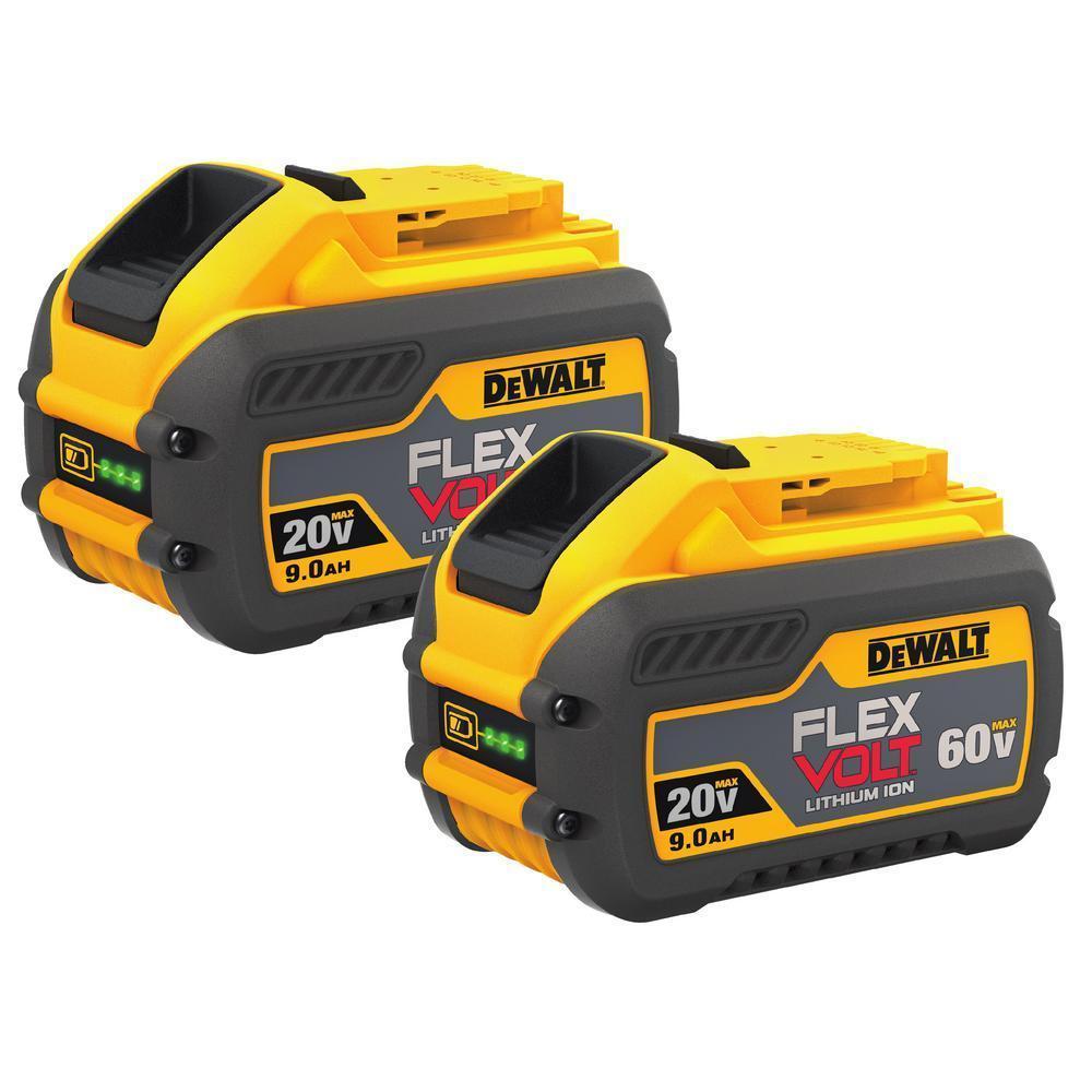 DeWALT DCB609-2 20v/60v Max 9.0ah Flexvolt batteries pair $192.20 AC @ Ebay