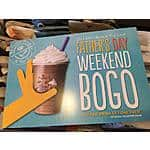 The Coffee Bean & Tea Leaf Buy one Get one Free BOGO Father's Day weekend