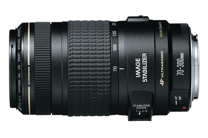 EF 70-300mm f/4-5.6 IS USM Refurbished $299 on Canon