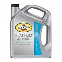Walmart Deal: Pennzoil Platinum Full Synthetic Motor Oil, 5 qt jug $22.66 @ Walmart In Store Only