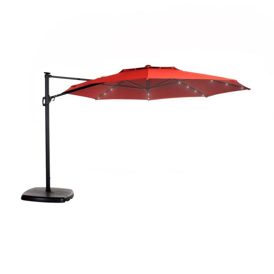 Simply Shade 11' Pre-Lit Patio Umbrella w/ Aluminum Frame & Base