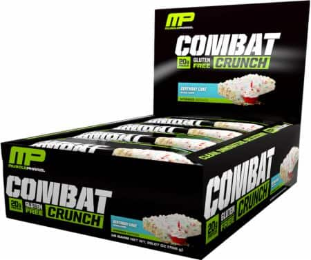 MusclePharm Combat Crunch Bars 2 boxes = 24 bars $22.49