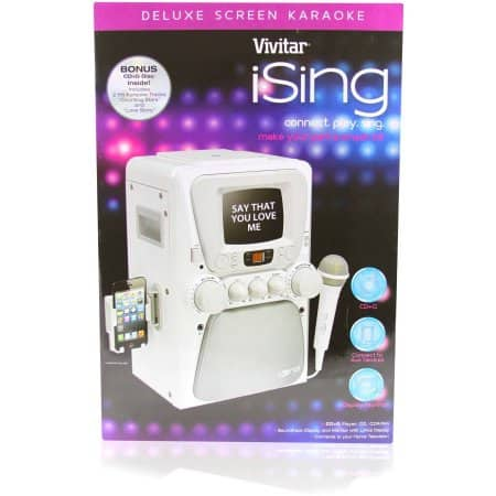 iSing Deluxe Karaoke Machine with Screen, White $30 - Walmart