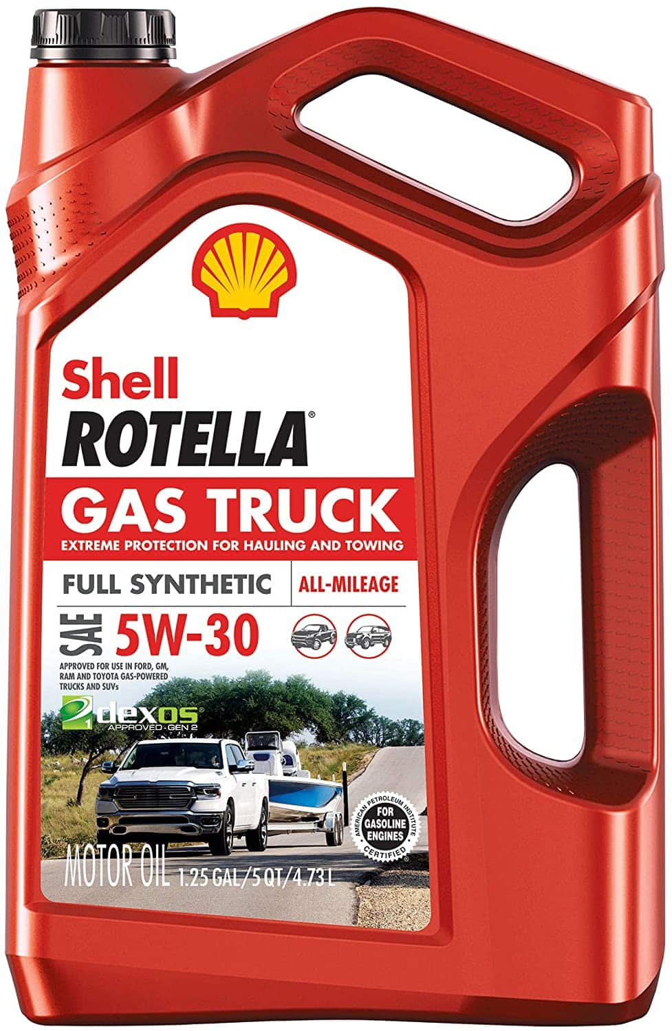 Shell Rotella -Full Synthetic 5W-30 Motor Oil 5-Quart, $15.34 with Amazon SS - $15.34