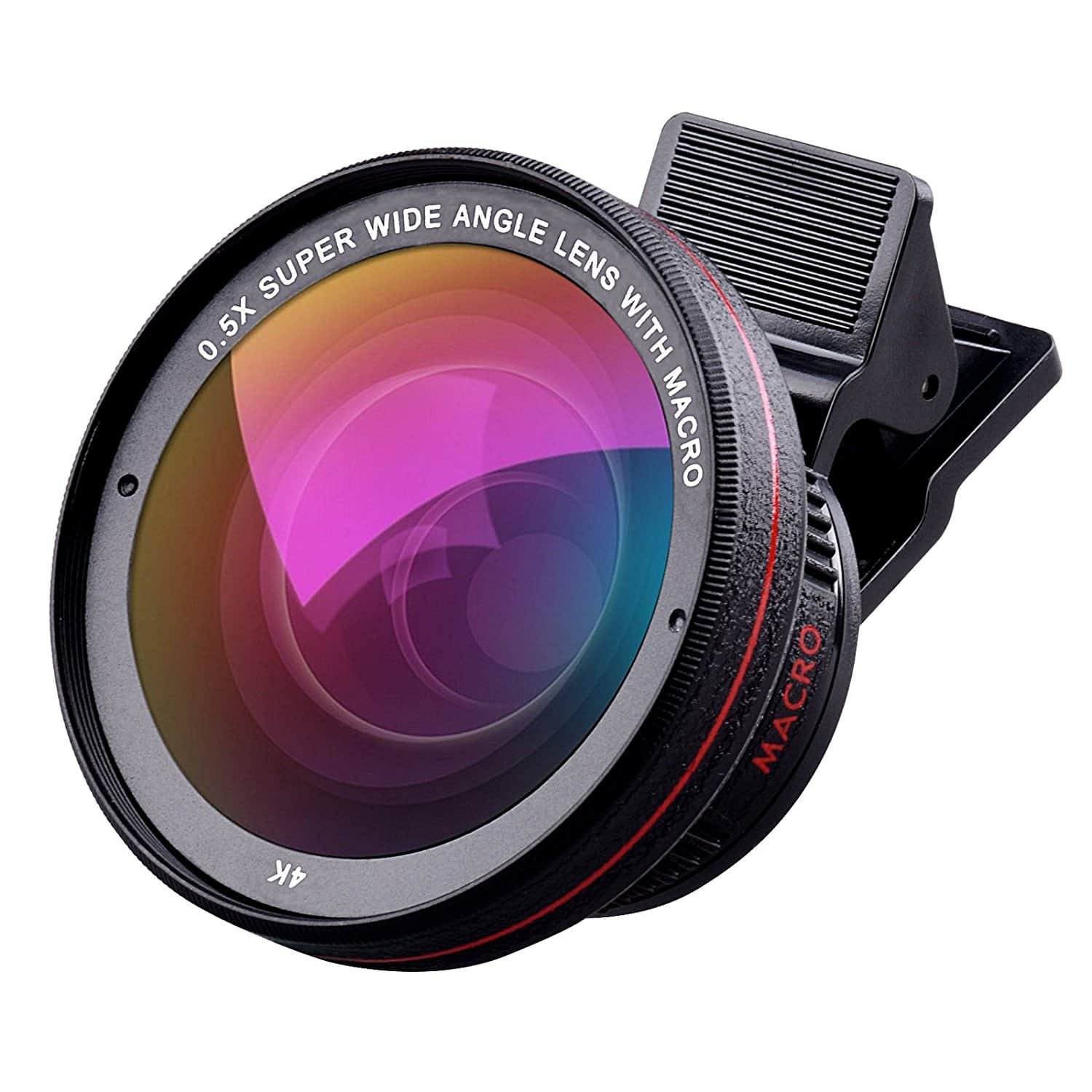 Cell Phone Camera Lens Kit 0.5X Super Wide Angle Lens + 15X Macro Lens for $14.49
