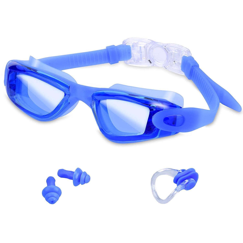 Swimming Goggles Anti Fog Wide Angle Leak-free UV Protection Triathlon for $5.99