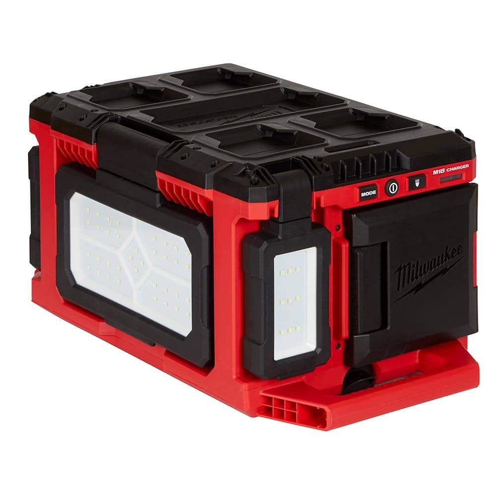 Milwaukee M18 18-Volt Lithium-Ion Cordless PACKOUT 3000 Lumens LED Light with Built-In Charger-2357-20 - $117.16