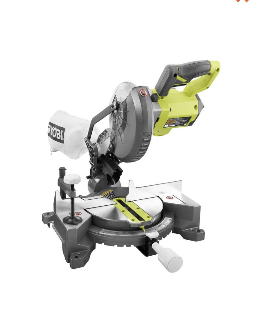 18-Volt ONE+ Cordless 7-1/4 in. Compound Miter Saw And Batteries $150