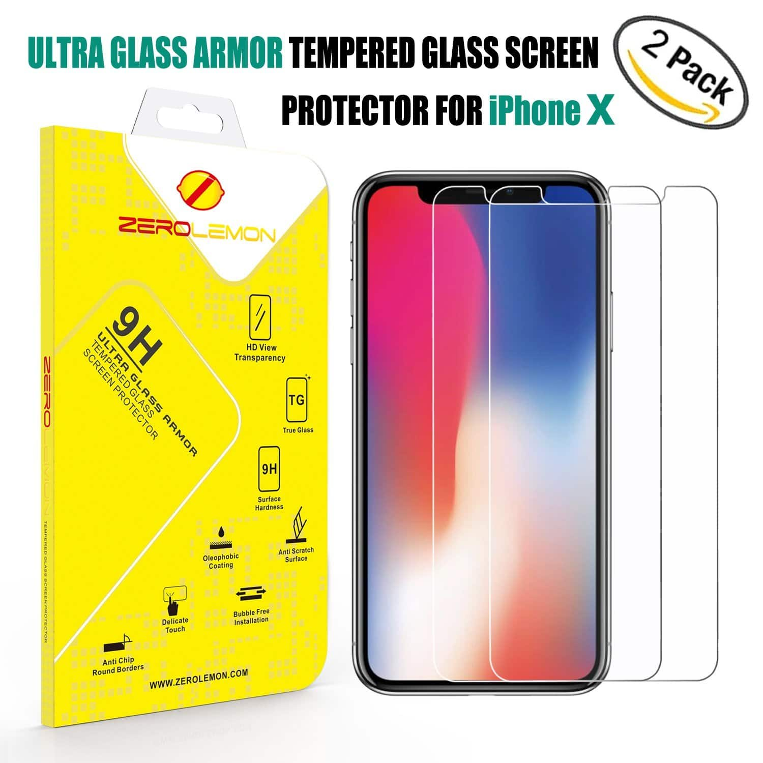 Tempered Glass Screen Protector on Sale for iPhone X (2X $4.2)/iPad Pro (1X $3) /New Surface Pro/Nintendo Switch (2X $3.97)/pixel (2X $3.6)/pixel xl (2X 3.5)/Note 4 ($2.4) @Amazon