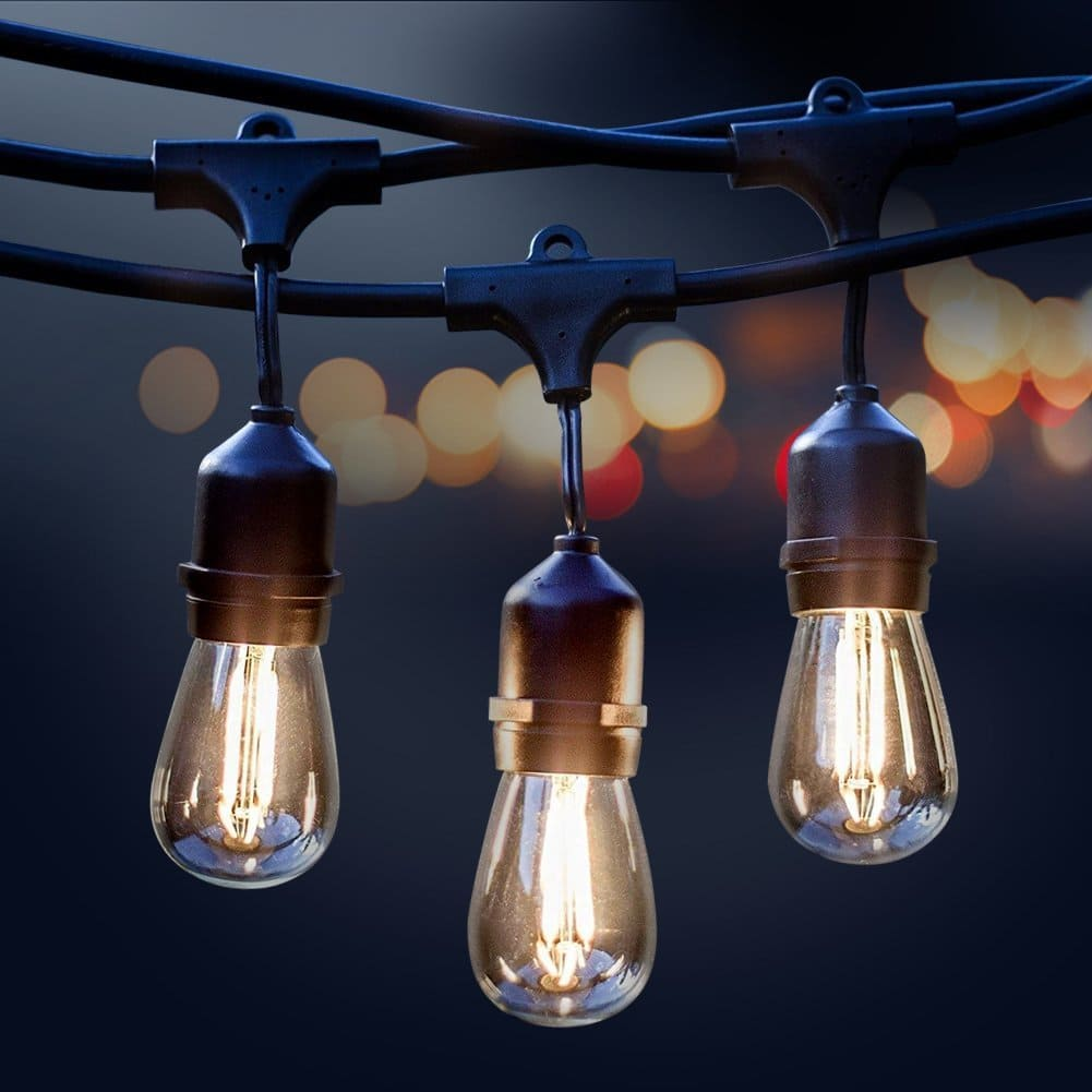 31 off 32 99 for a 48ft weatherproof outdoor string lights with
