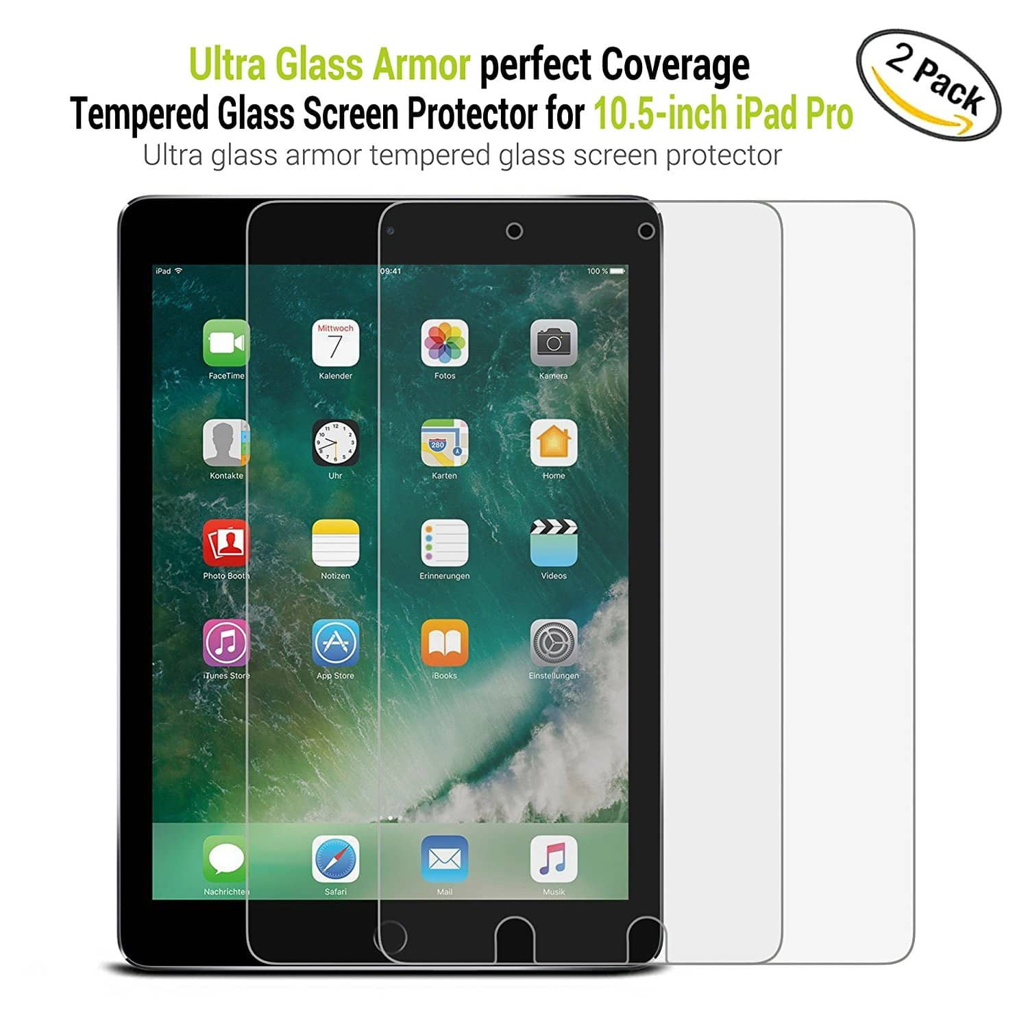 56% Off ZeroLemon 2-Pack iPad Pro 10.5 Tempered Glass Screen Protector $3.96 + Amazon Free Shipping