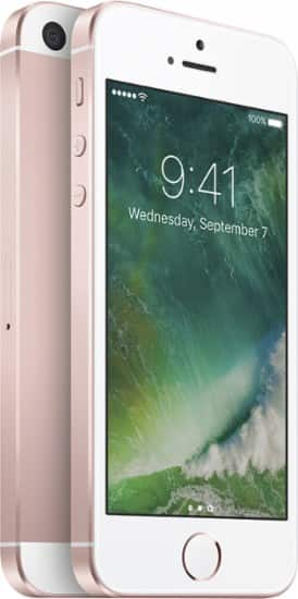 BestBuy: Simple Mobile - Locked Apple iPhone SE 4G LTE with 16GB Memory Prepaid Cell Phone - Rose Gold $150
