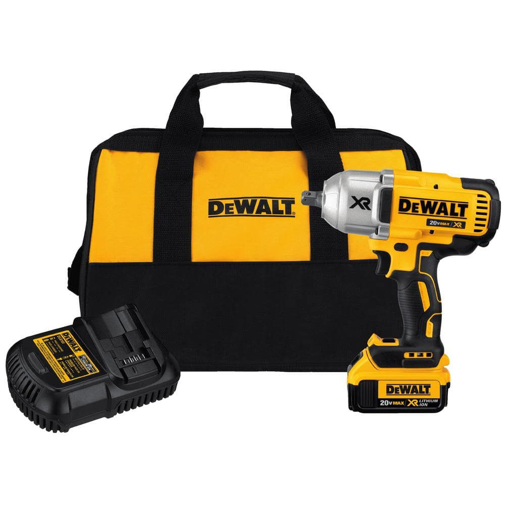 DeWALT High Torque 1/2 In. Impact Wrench Kit w 4.0AH Battery and Charger $249.99
