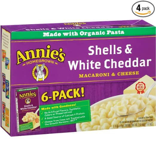 24-Pack of 6oz Annie's Macaroni & Cheese (White Cheddar) $12.20 or less w/ S&S + Free Shipping