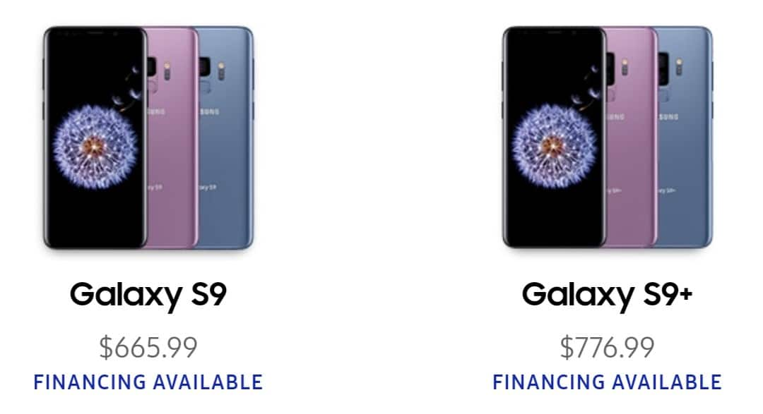 Unlocked Samsung Galaxy S9 $665.99 or S9+ $776.99 With EPP or Unidays or Edu discount at Samsung.com or Shop Samsung App