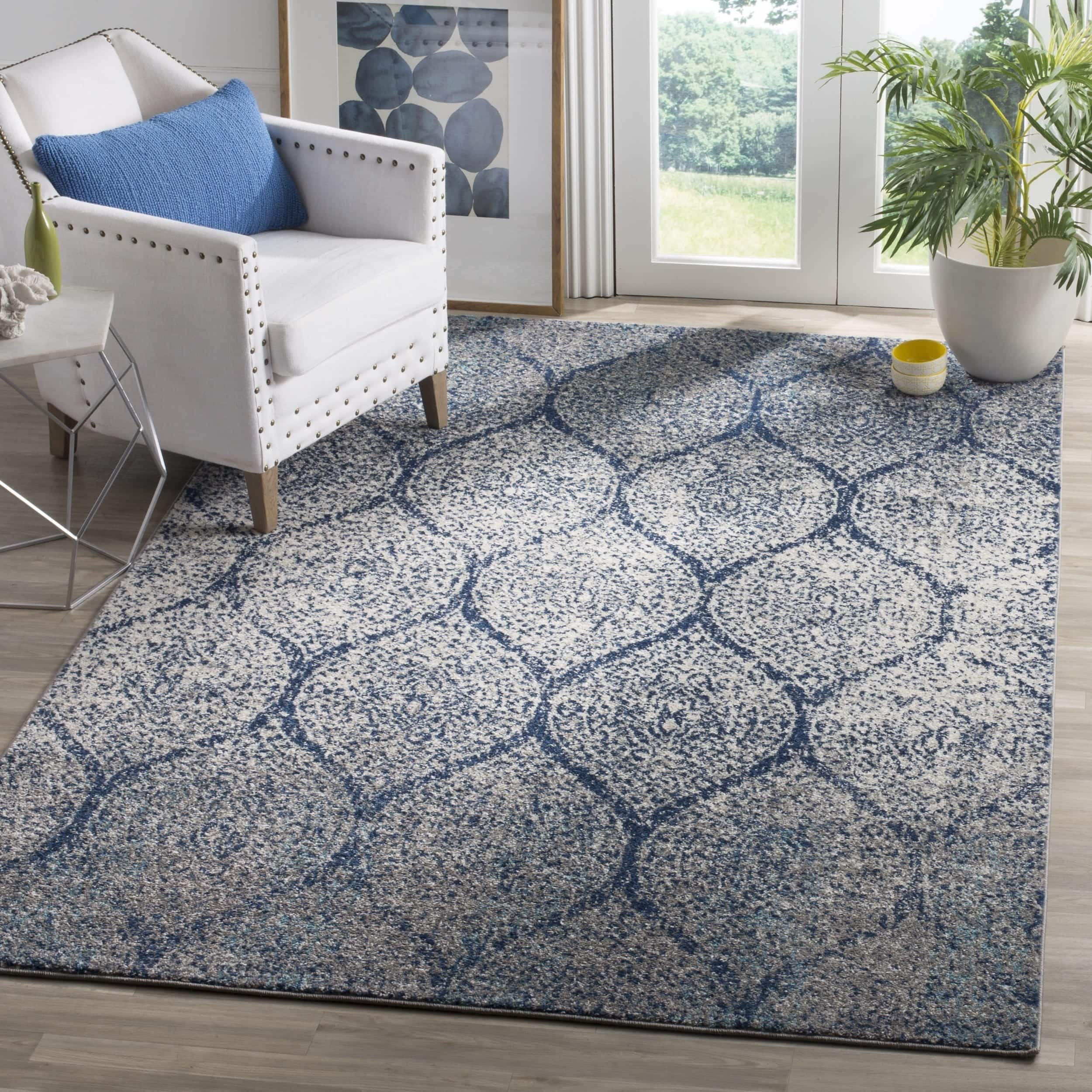 Safavieh 8' x 10' Madison Vintage Navy/ Silver Distressed Rug $149.98