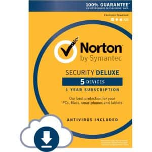 Norton Security Deluxe upgrade $4.99 after rebate + mailed code