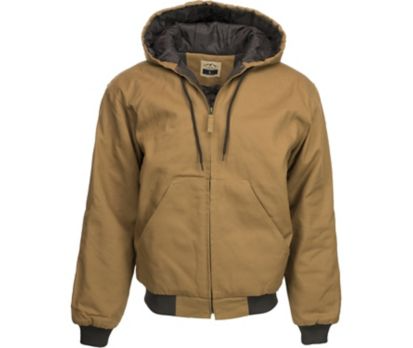 Blue Mountain Insulated Hooded Jacket Black or Tan + FS $29.99