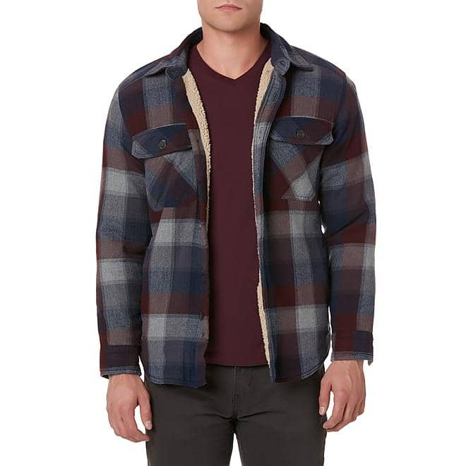 Outdoor Life Men's Flannel Shirt Jacket-Plaid $18.27