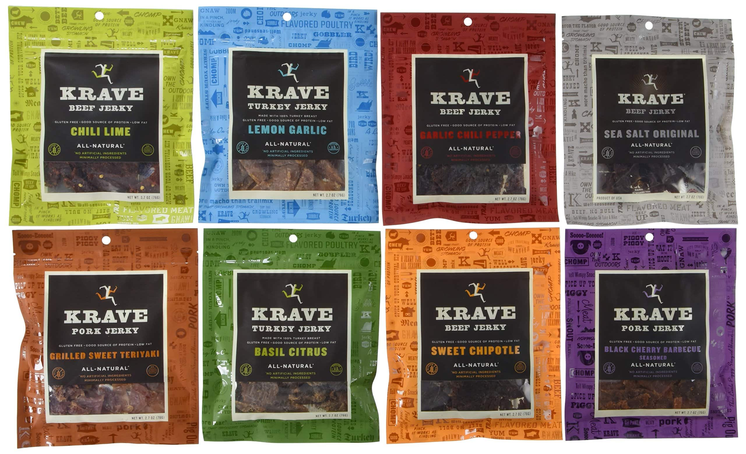 KRAVE Turkey Jerky, Lemon Garlic, 2.7 Oz. (Pack Of 8) - $17.99  or Sweet Chipotle $21.99 8/pk + Free Ship