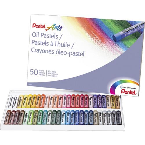 Pentel Oil Pastels 50/Pkg- $5.27