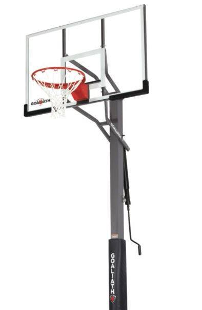 """Goaliath 54"""" Warrior In-Ground Basketball Hoop with Pole Pad- $399.98 (60% OFF)"""