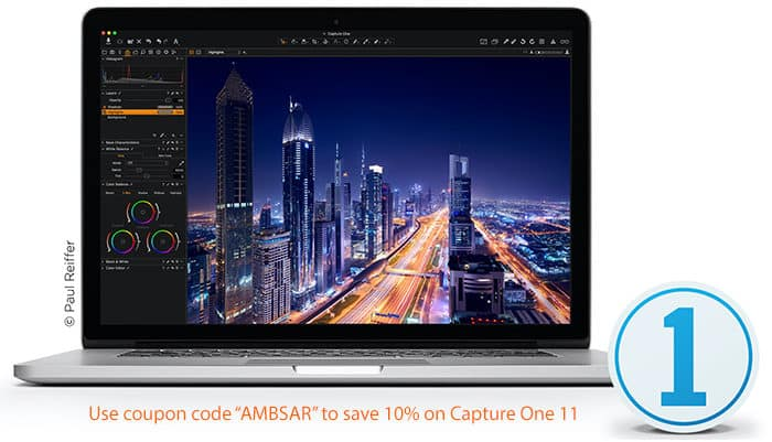 "Save 10% on Capture One 11 with coupon code ""AMBSAR"" $299"