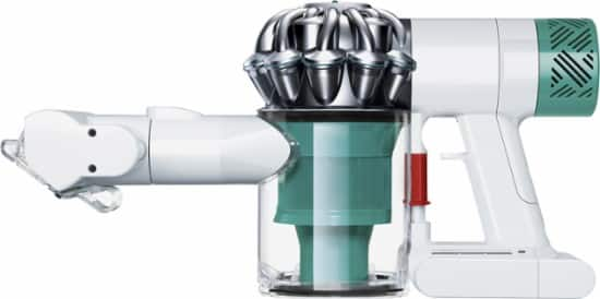 Dyson - V6 Mattress Bagless Cordless Hand Vac - White/Nickel/Teal $180