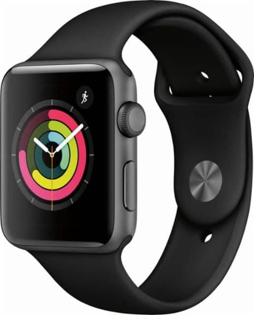 Apple Watch Series 3 (GPS) 42mm Space Gray Aluminum Case with Black Sport Band - $70 Kohl's cash $360