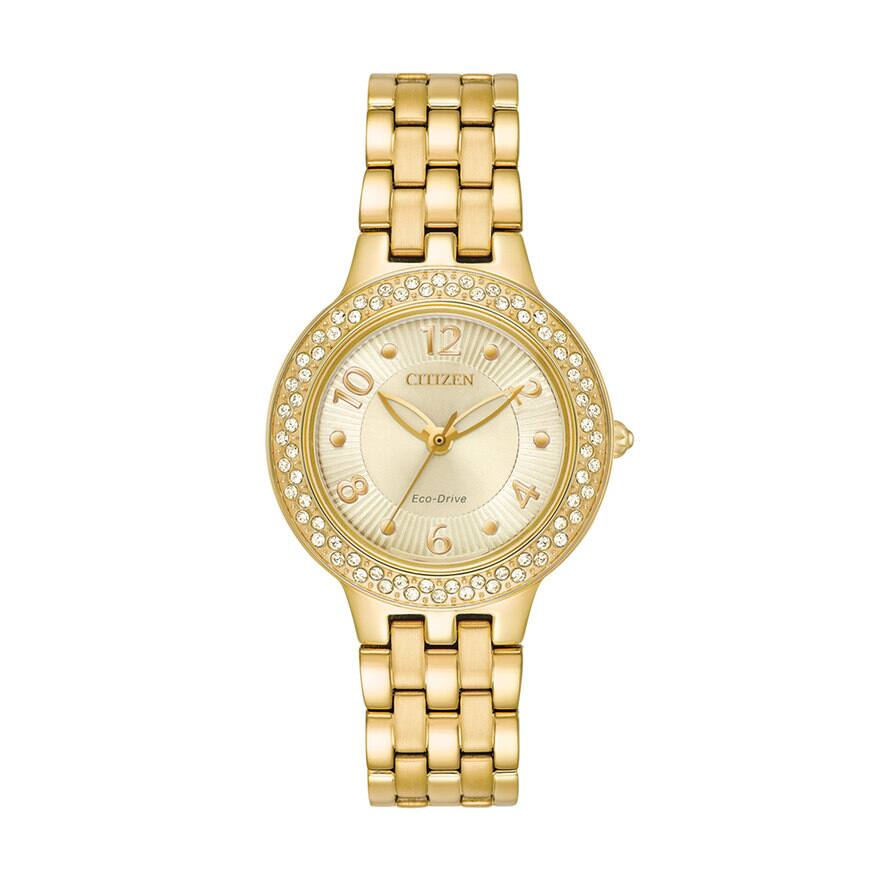 Citizen Eco-Drive Women's Silhouette Crystal Stainless Steel Watch - $45 kohl's cash $165.75