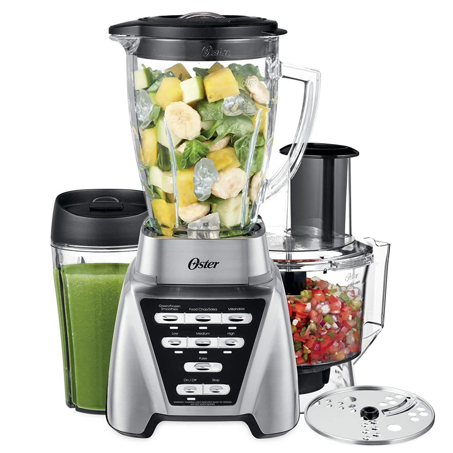 Oster Pro 1200 Blender 3-in-1 with Food Processor Attachment and XL Personal Blending (smoothie) Cup $56