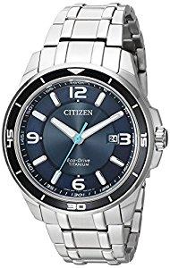 Citizen Men's ' Quartz Titanium Casual Watch, Color:Silver-Toned (Model: BM6929-56L) - Eco-Drive $167.3