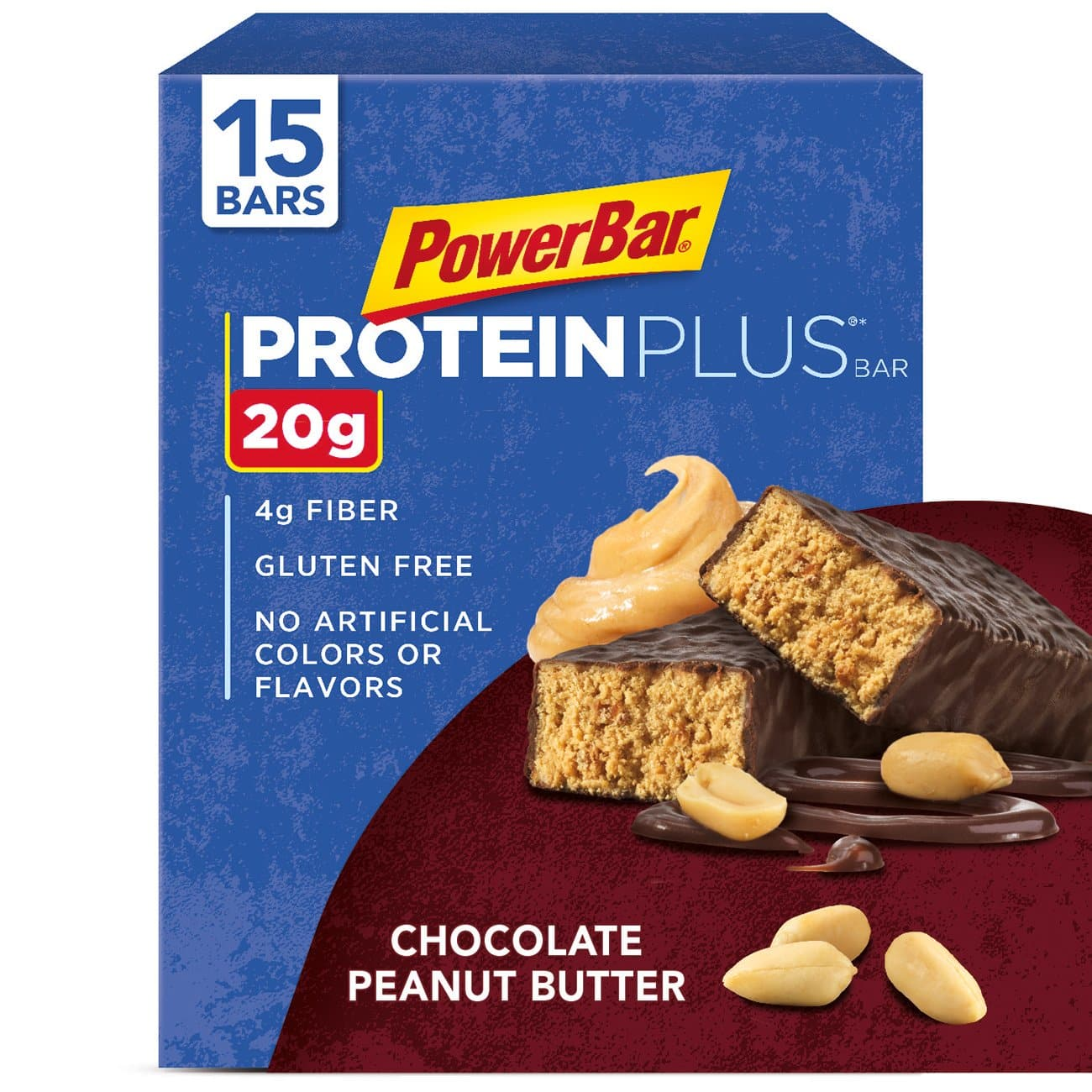 PowerBar Protein Plus Bar, Chocolate Peanut Butter, 2.12 oz Bar, (15 Count) $13.13