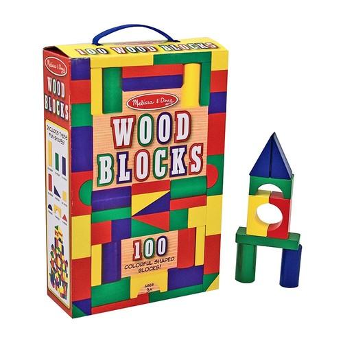 Melissa & Doug Wooden Building Blocks Set $ 16.06 @Amazon $16.06