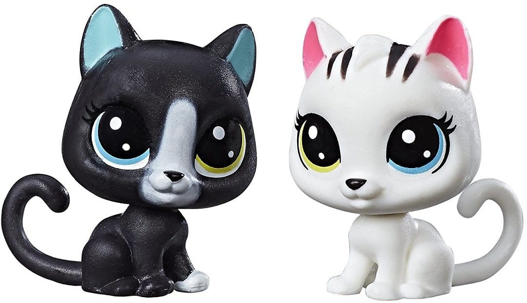 Littlest Pet Shop Black & White Kitten BFFs $4.97