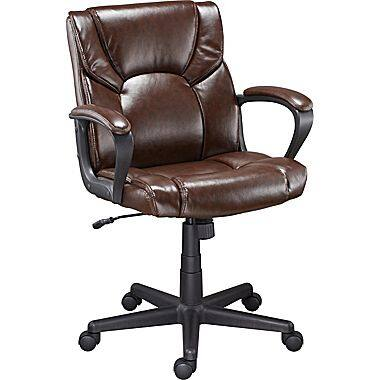 Staples Montessa II Luxura Managers Chair Brown or Black - $49.99