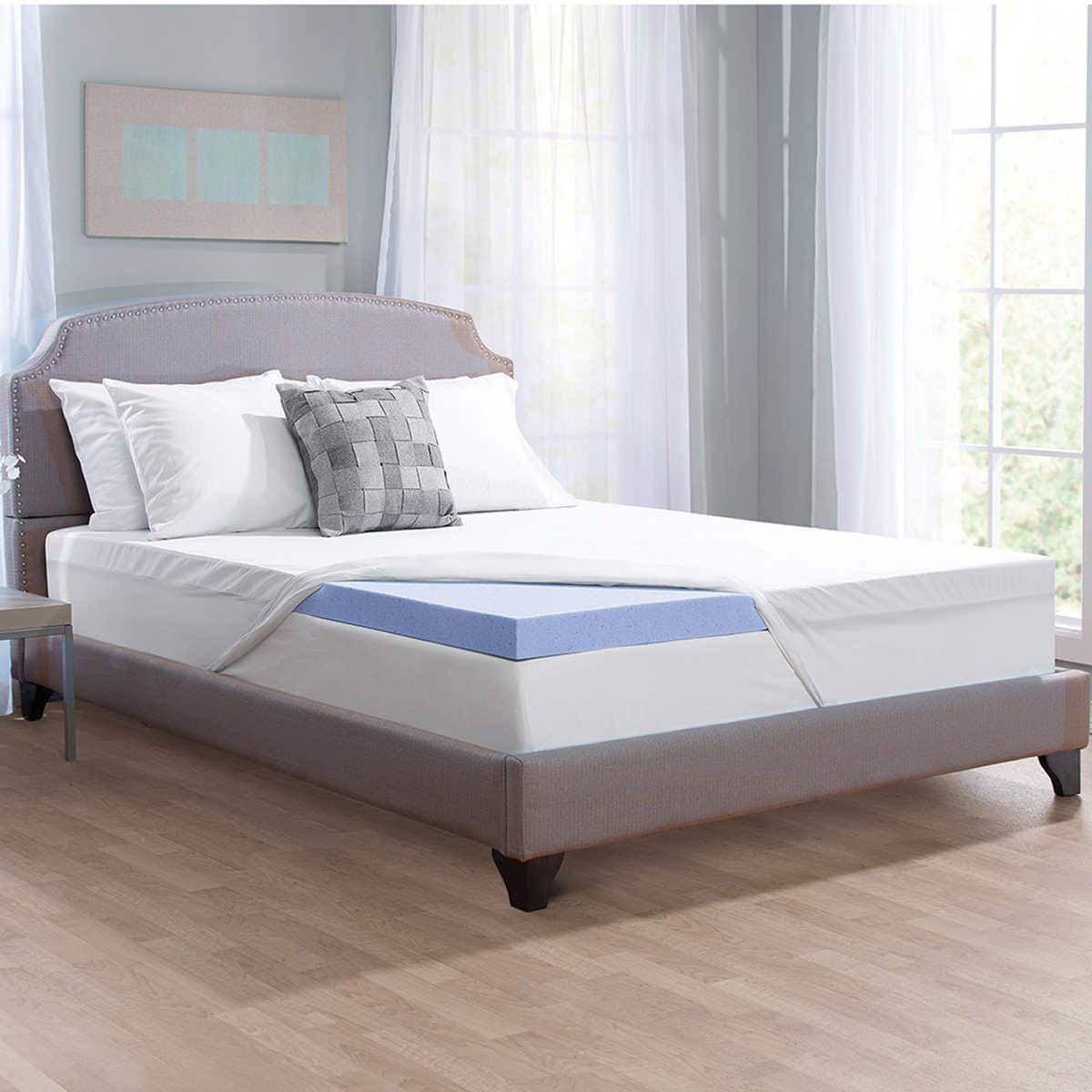 Novaform Serafina Collection 3 Gel Memory Foam Mattress Topper 59 99 Free Shipping