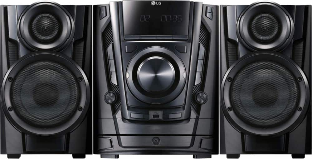 LG - 200W 3-Disc Hi-Fi Shelf System - Black $98