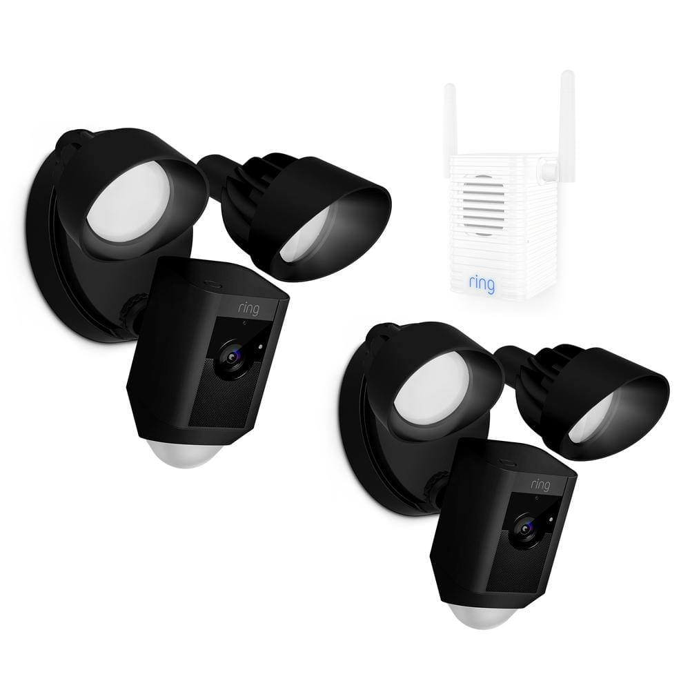 Ring floodlight 2-pack set with chime pro $ 449