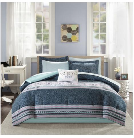 Intelligent Design Gloria Blue Bed in a Bag Set $ 56.69 on www.overstock.com $56.69